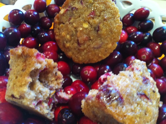 Cranberry, Orange, Walnut Whole Grain Muffins (in Diet SImple: Farm to Table Recipes)