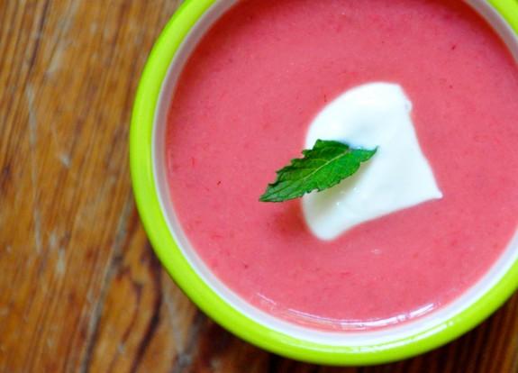 Soupe aux Fraises et Rhubarbe (photo by Alison Eaves)
