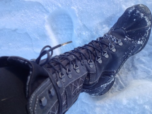 Katherine's insulated, water-proof Mephisto walking boots