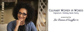 Chef Carla Hall & 16 other chefs appear with food and books in Georgetown on December 14