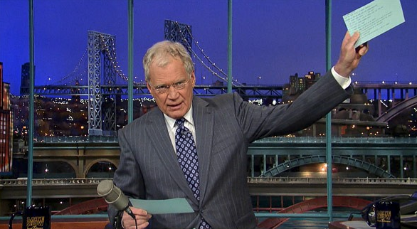 David Letterman Top Ten for Blog