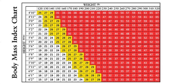 BMI Chart for blog