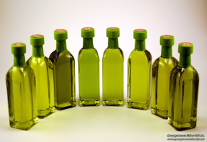 Georgetown Olive Oil's Varietals EVOO-2016 CRUSH (olive oil color is determined by the olive from which it is made)